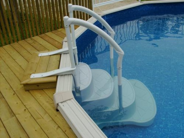 ... Above Ground Pool Steps ...